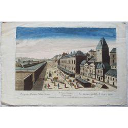 1760 VIENNE / WIEN, LES ANCIENNES GABELLES DE CESAR, 78è vue d'optique, optical view, gravure-etching