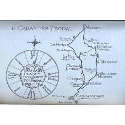 Girou J. l'itineraire en terre d'aude, avec cartes.
