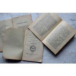 1925/30, Franc Maconnerie , grand orient france 1, 2 et 3 ieme grade symbolique, Compagnon, Maitre, Aprenti
