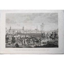 1830 VIENNE / WIEN, Entrée des Français dans Vienne le 14 novembre 1805. gravure-engraving-kupferstich