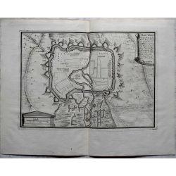 1694-Haguenau Ville forte Alsace-carte-ancienne-antiquarian-map-n-de-fer,landkarte, kupferstich,.