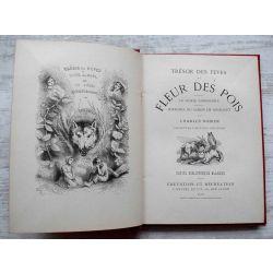 TRESOR DES FÊVES ET DES FLEURS DES POIS - LE GENIE BONHOMME - HISTOIRE DU CHIEN DE BRISQUET, Cartonnage  par A. Cartier .