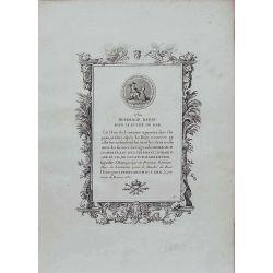 Numismatique, gravure authentique, Hommage rendu pour le duché de bar 1730