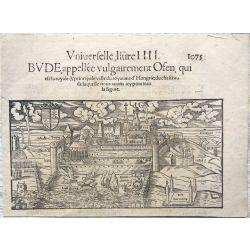 1552 Budapest, vue panoramique, Bude, Appellee Vulgairement Osen, Sebastian Munster