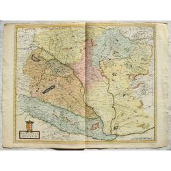 BLAEU, HUNGARIA REGNUM, Hongrie, Ungarn, carte-ancienne-colorée, antiquarian-map-landkarte-kupferstich.