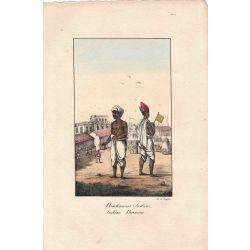 Lithographie, indian bramins,1826, Comte de Noe, joliement coloriée