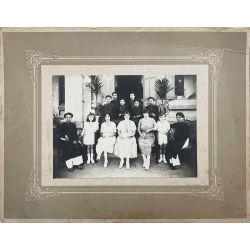 Indochine colons avec leurs domestiques vers 1924, photo argentique, vintage photo