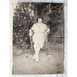 "Indochine vers 1926 photo argentique portrait ""Cecile"", Vintage photo Indochina"