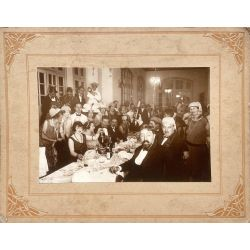 Noel 1926 Indochine Hue, champgne,photo argentique, vintage photo Christmas 1926 Indochina Hue