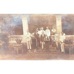 Indochine 1926, portrait groupe photo argentique, vintage photo