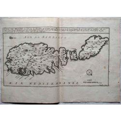 1694, Carte ancienne, antiquarian Map, Isle de MALTE, MALTHE, MALTA ,posedée par les chevaliers, N. de Fer