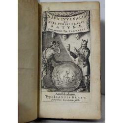 la17 Iuvenalis 1668 et Auli Persii Flacci Satyrae, poète satirique romain de la fin du ier siècle