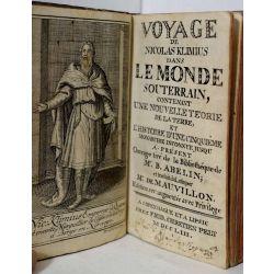 1753 Louis de Holberg, Voyage de Nicolas Klimius dans le monde souterrain. Utopie illustrée. LA18.