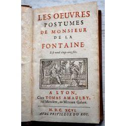la17 les oeuvres postumes de monsieur de la Fontaine 1st ed. ed.orig. chez AMAULRY