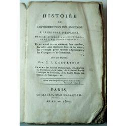 LA19 1802 Histoire de l'introduction des moutons à laine fine d'Espagne, LASTEYRIE