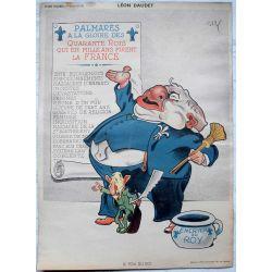 CARICATURE Raoul Cabrol  parti communiste LEON DAUDET, le fou du roi