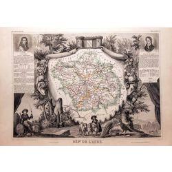 Carte authentique Levasseur dept. de l'Aube vers 1860