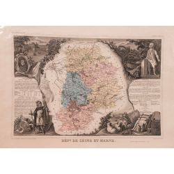 Carte authentique Levasseur dept. de Seine et Marne vers 1860