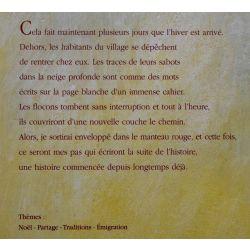 Le manteau rouge,livre d'enfant illustre, Lechermeier, Nouhen, Noel, Partage, Traditions, Emigration