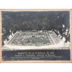 Indochine, Photo Argentique, Vintage photo 1922, Maquette de la citadelle de Hué