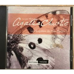 CD livre audio Miss Marple 1 lu par Michael Lonsdale, Agatha Christie .