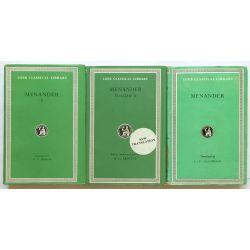 Menander, in 3 vol. / Loeb Classical Library