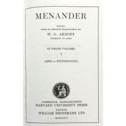 Menander, in 3 vol. / Loeb Classical Library
