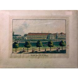 Gravure TRANQUILLO MOLLO Kupferstich, 1815, Osterreich, Austria,Autriche,K.K. Burg Wien Vienne