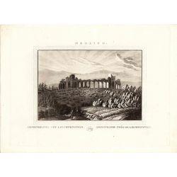 Gravure TRANQUILLO MOLLO Kupferstich, 1815, Osterreich, Austria, Liechtenstein Amphitheatre Medling, N&B, B&W