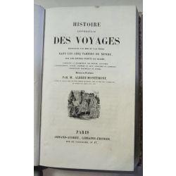 Histoire des Voyages, Montemont, Amerique, Basil Hall, Trollope,2 planches en couleur, la19