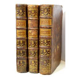 LA18 MONTESQUIEU, 3 volumes  1751 De l'esprit des loix, avec carte, ou du rapport que les loix doivent avoir avec la constitution