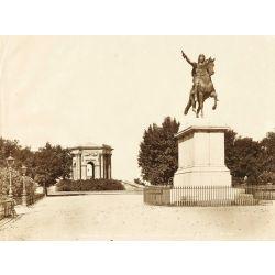 MONTPELLIER, le jardin du Peyrou, vintage albumen print, old photo, tirage argentique albuminé,1880/90,chateau d'eau N.D.Phot.,Neurdein.