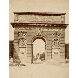 MONTPELLIER,  l'arc de triomphe, vintage albumen print, old photo, tirage argentique albuminé,1880/90,  N.D.Phot.,Neurdein.