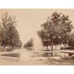 MONTPELLIER, l'esplanade, vintage albumen print, old photo, tirage argentique albuminé,1880/90,  N.D.Phot.,Neurdein.