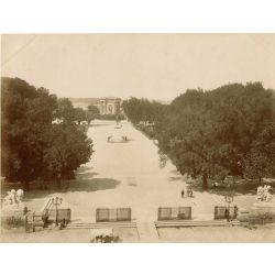 MONTPELLIER, le jardin du Peyrou, vintage albumen print, old photo, tirage argentique albuminé,1880/90, N.D.Phot.,Neurdein.