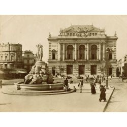 MONTPELLIER, le théatre, vintage albumen print, old photo, tirage argentique albuminé,1880/90,  N.D.Phot.,Neurdein.