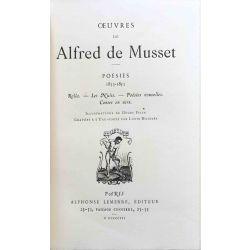 Musset, Oeuvres illustrés en 10 vols. Edition limitée.