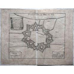 1695 carte geographique ancienne, antiquarian map, Naerden-zuyder-zee-carte-map-de-Fer