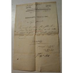 Lettre Napoleon Bonaparte pendant la campagne d'Egypte, Napoleon Letter Egypt Campaign