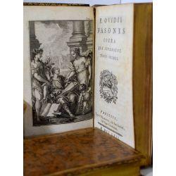 LA18 OVIDE 1762, P. Ovidii Nasonis Opera quae supersunt. 2 volumes.