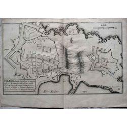 1694, Carte ancienne, Catalogne, Cataluña, Catalunya, PALAMOS, mapas antiguos, antiquarian Map, catalonia PALAMOS N. de Fer