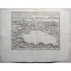 1694 Plan du port du passage en Espagne, PAYS BASQUE, St. Sébastien/Fontarabie-carte-ancienne-antiquarian-map-landkarte-kupferstich-n-de-fer