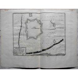 1694 PUICERDAN / PUIGCERDA, ville forte en Catalogne -carte-ancienne-antiquarian-map-landkarte-kupferstich-n-de-fer