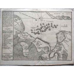 1694 Québec, ville de l'Amérique septentrionale dans la Nouvelle-France, Carte ancienne, antiquarian Map, N. de Fer