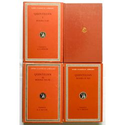 Quintilian, Institutio oratoria, 4 vol. / Loeb Classical Library