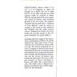 Quintilian, Institutio oratoria, 4 vol. / Loeb Classical Library