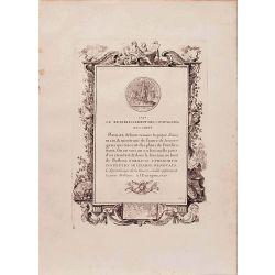 Numismatique, gravure authentique, Le retablissement des compagnies 1727