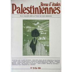 Revue d'études Palestiniennes, No 20/1986.