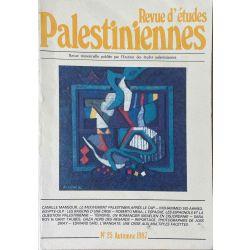 Revue d'études Palestiniennes, No 25/1987.