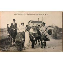 CPA Robinson la mariée et son escorte 872